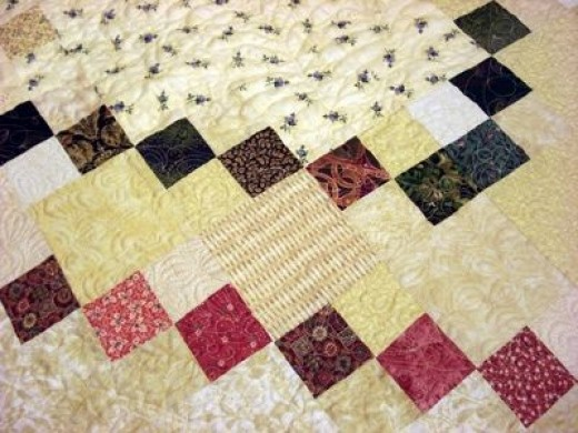 Detail King size quilt