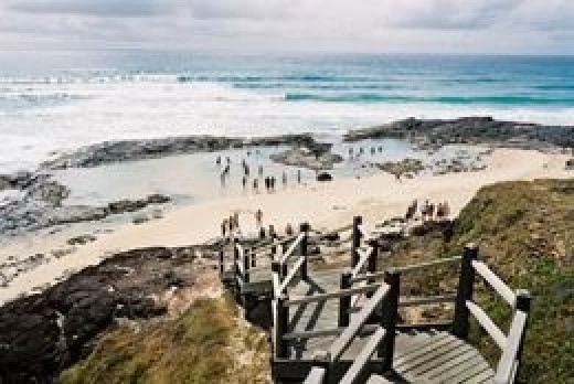 The beautiful champagne pools