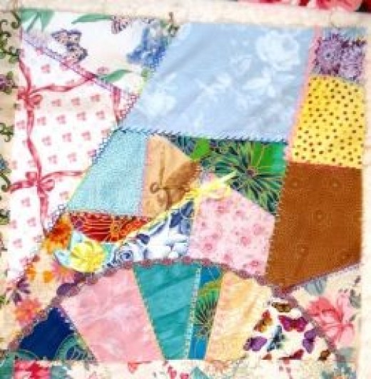 Crazy scrap patchwork