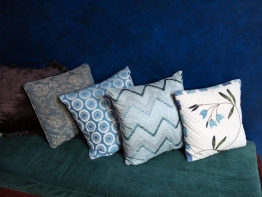 Quilts on cushions