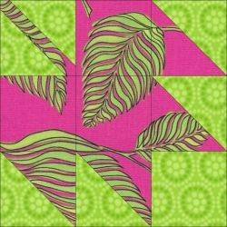 Patchwork block: Autumn Leaf