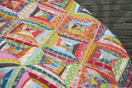 Voile string quilt by Ashley from Vermont
