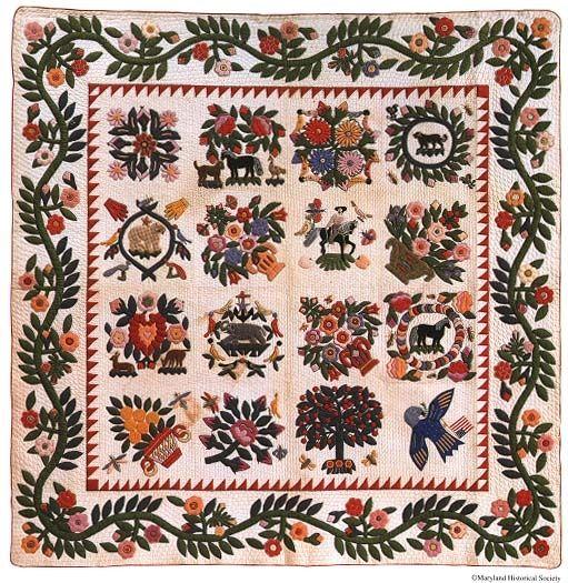 Baltimore Album Quilt, c. 1850