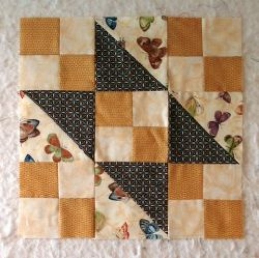 Jacob's Ladder Traditional patchwork block