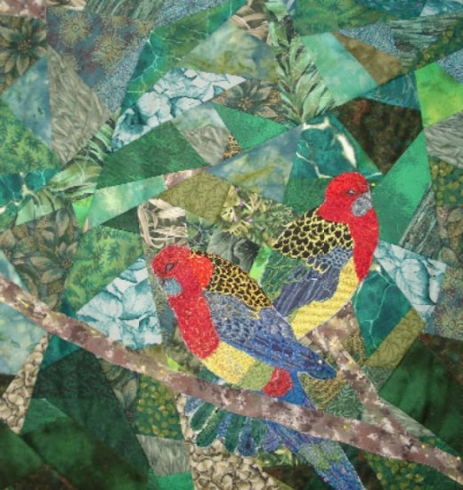 Rosella quilt background