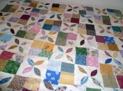 Margaret's leaves quilt