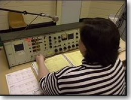 Console in use 1950s