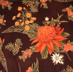 Ursula's floral fabric had tiny bits of yellow