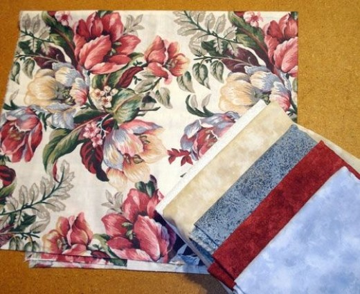 A different set of co-ordinated quilt fabrics