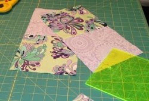 Making four patch blocks