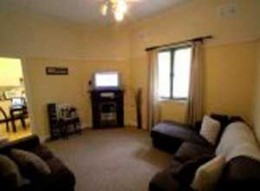 The lounge room when we bought the house