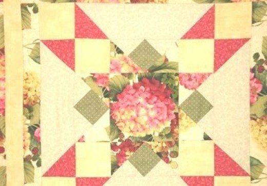 Catherine O'Neill's quilt detail