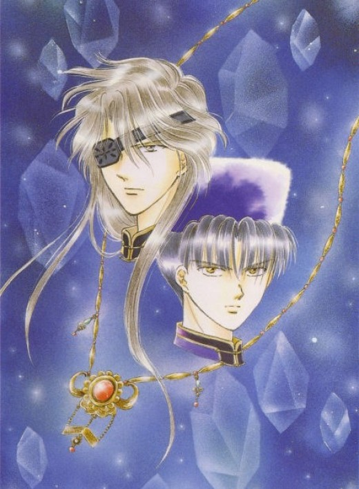 Hikitsu and Tomite from Fushigi Yuugi