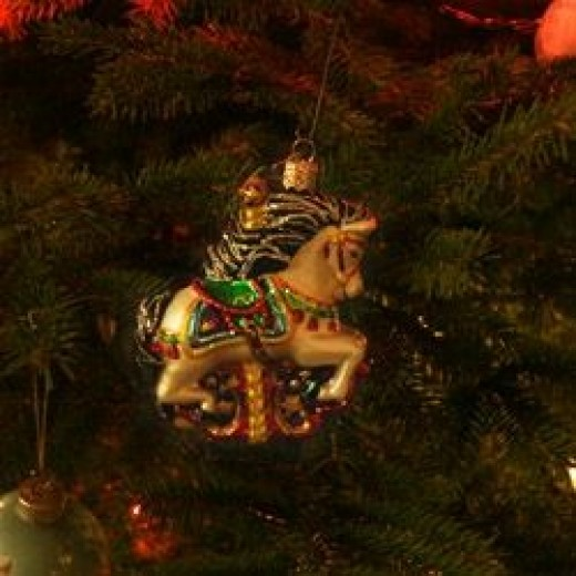 Old World Christmas Carousel Horse -- Country Cupboard