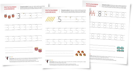 tracing number worksheets