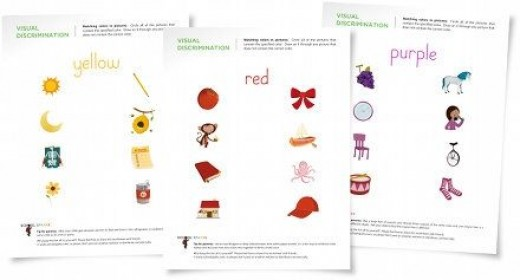 color worksheets learn colors