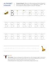 Letter B letter tracing sheet