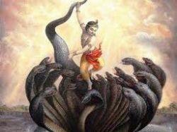 hundred head snake fighting with load krishana