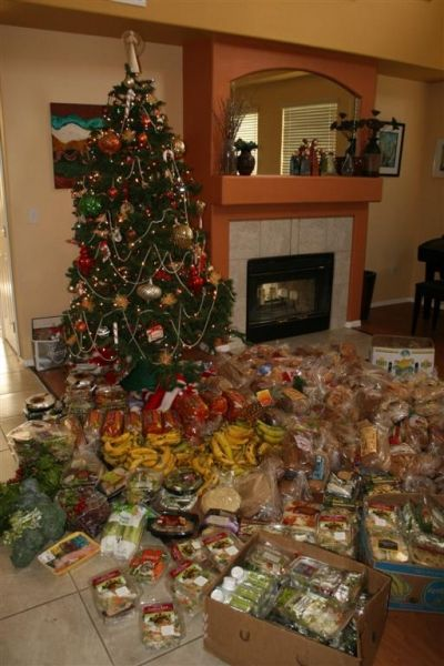 Hundreds of loaves, salads, entrees 1 bin 1 day--this shows half of it!