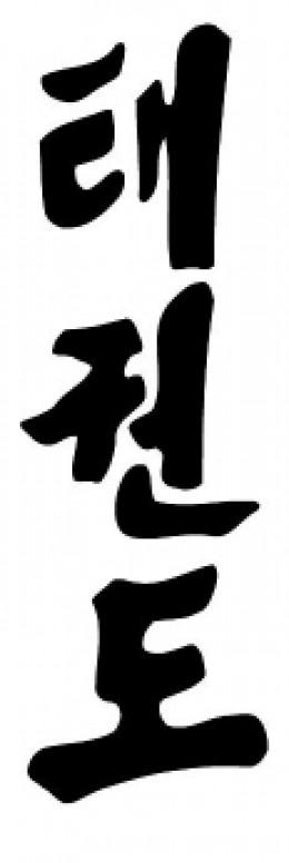 Taekwondo korean symbol
