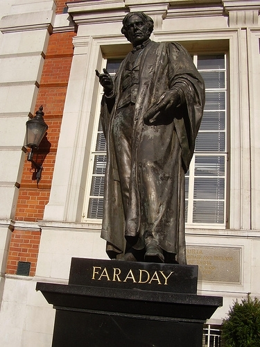 Michael Faraday statue in Savoy Place, London