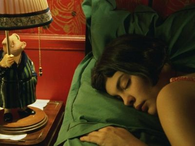 Audrey Tautou as Amelie Poulain in the movie Amelie