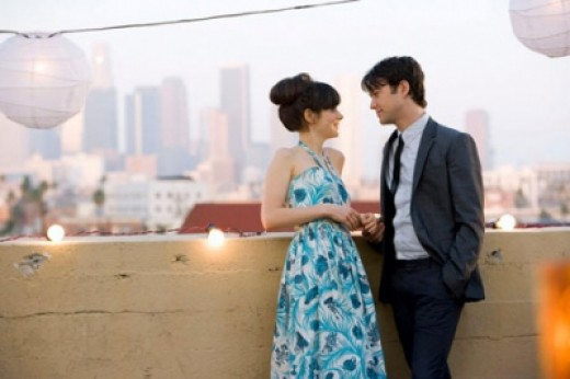 Zooey Deschanel as Summer and Joseph Gordon-Levitt as Tom