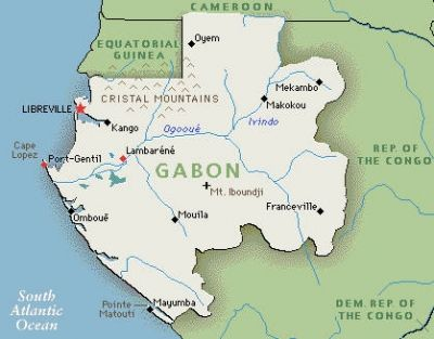 Gabon on the Map
