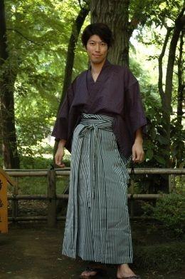 Man in Silk Kimono