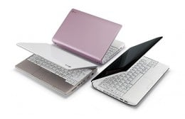 Netbooks usually are available in several different colors.
