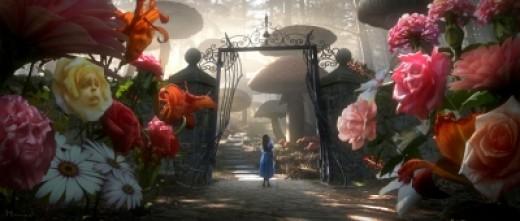 Flower Scene in Alice in Wonderland 2010 Film