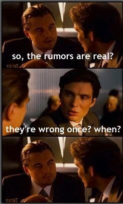 Rumors came true