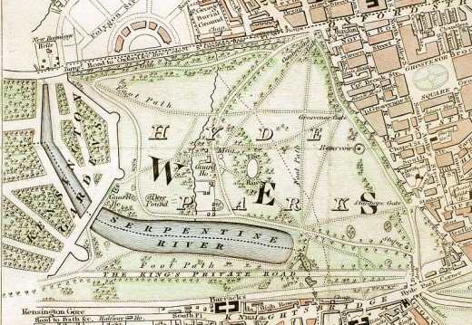 Hyde Park map from 1833