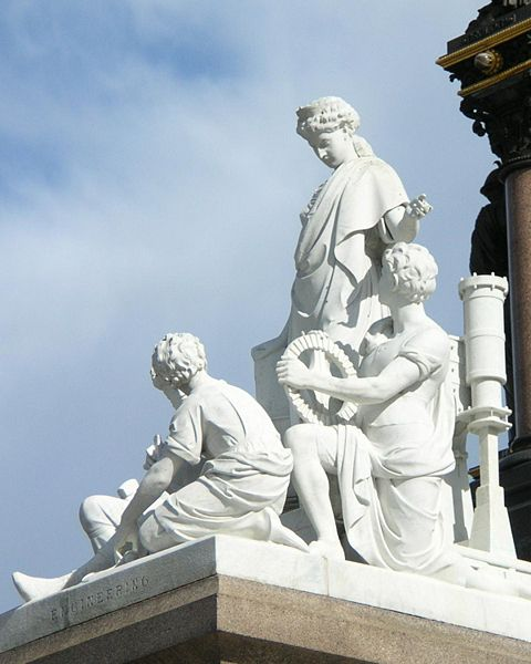The Engineering statue on the Albert Memorial