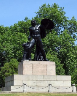The Achilles statue on the Wellington Memorial at Hyde Park Corner