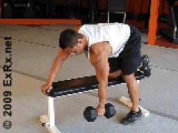 dumbell bent over row