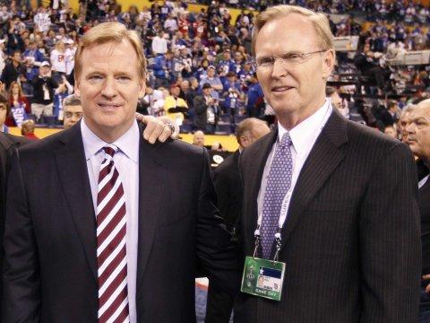 Goodell and New York Giants owner John Mara
