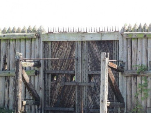 Gates to the fort