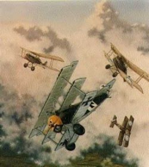 dogfight in the sky