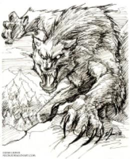 Aggressive werewolf