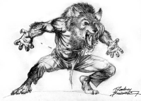 Werewolf with pants