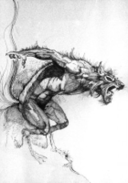 Werewolf in rage