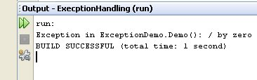Figure 04 - The output of our program after adding exception handling.