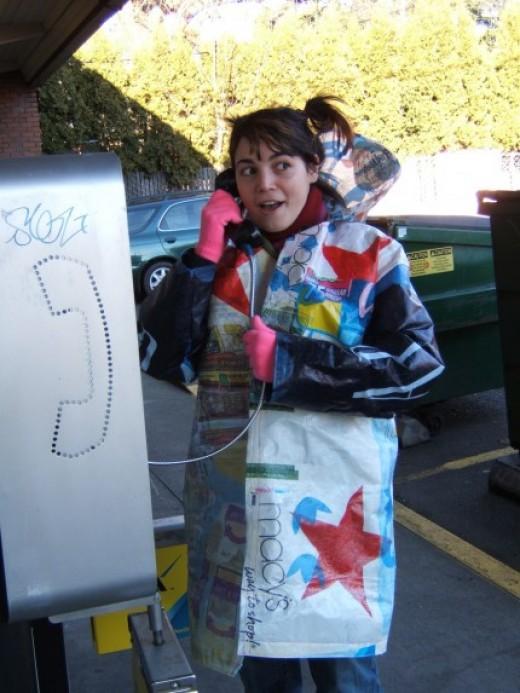 Plastic Bag Raincoat by Pen Felt of etsy