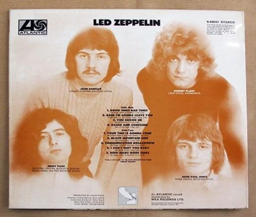 led zeppelin back cover album