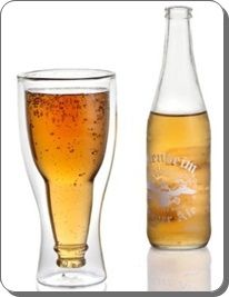 Hopside Down Beer Glass, Double Wall Beer Glass
