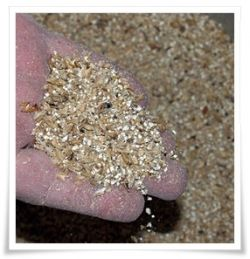 grain after being crushed