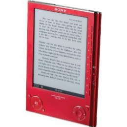 Red Sony PRS-505 Ebook Reader