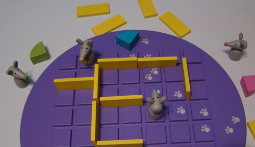 The game board changes with every game because the players determine where the walls will go as the game progresses.