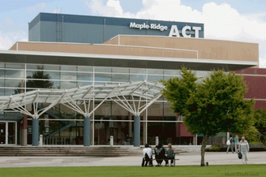 The Act is a theatre and a culture place in downtown Maple Ridge. The Maple Ridge Leisure Center, next door from this building, offers worshops of all kinds, swimming at its wonderful indoor pool, and sport activities like tae-kwon-do, gymanstics, ca